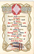 xms001159 - Christmas Post Card Old Vintage Antique Xmas Postcard