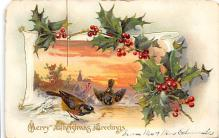 xms001165 - Christmas Post Card Old Vintage Antique Xmas Postcard