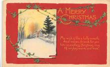 xms001167 - Christmas Post Card Old Vintage Antique Xmas Postcard