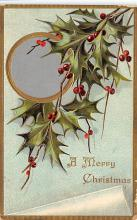 xms001169 - Christmas Post Card Old Vintage Antique Xmas Postcard