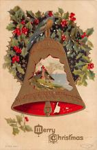 xms001173 - Christmas Post Card Old Vintage Antique Xmas Postcard