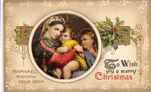 xms001177 - Christmas Post Card Old Vintage Antique Xmas Postcard