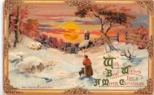xms001179 - Christmas Post Card Old Vintage Antique Xmas Postcard