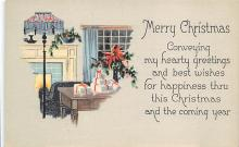 xms001181 - Christmas Post Card Old Vintage Antique Xmas Postcard