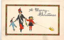 xms001183 - Christmas Post Card Old Vintage Antique Xmas Postcard