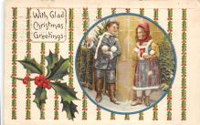 xms001187 - Christmas Post Card Old Vintage Antique Xmas Postcard