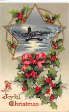 xms001189 - Christmas Post Card Old Vintage Antique Xmas Postcard