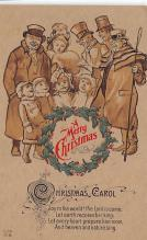 xms001191 - Christmas Post Card Old Vintage Antique Xmas Postcard