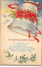 xms001195 - Christmas Post Card Old Vintage Antique Xmas Postcard