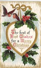xms001197 - Christmas Post Card Old Vintage Antique Xmas Postcard