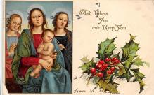 xms001199 - Christmas Post Card Old Vintage Antique Xmas Postcard