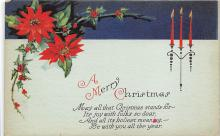 xms001209 - Christmas Post Card Old Vintage Antique Xmas Postcard