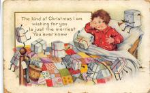 xms001211 - Christmas Post Card Old Vintage Antique Xmas Postcard