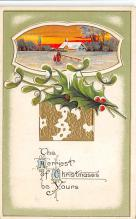 xms001219 - Christmas Post Card Old Vintage Antique Xmas Postcard
