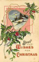 xms001221 - Christmas Post Card Old Vintage Antique Xmas Postcard