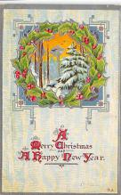 xms001223 - Christmas Post Card Old Vintage Antique Xmas Postcard