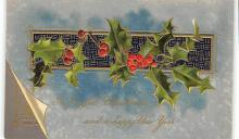 xms001225 - Christmas Post Card Old Vintage Antique Xmas Postcard