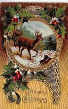 xms001227 - Christmas Post Card Old Vintage Antique Xmas Postcard
