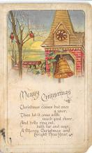 xms001231 - Christmas Post Card Old Vintage Antique Xmas Postcard