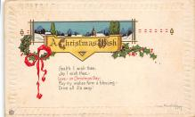 xms001233 - Christmas Post Card Old Vintage Antique Xmas Postcard
