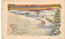 xms001237 - Christmas Post Card Old Vintage Antique Xmas Postcard
