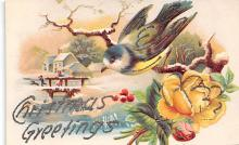 xms001241 - Christmas Post Card Old Vintage Antique Xmas Postcard