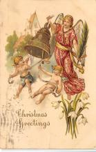 xms001245 - Christmas Post Card Old Vintage Antique Xmas Postcard
