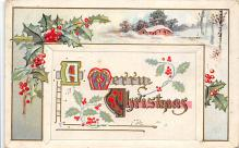 xms001247 - Christmas Post Card Old Vintage Antique Xmas Postcard