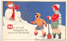 xms001249 - Christmas Post Card Old Vintage Antique Xmas Postcard