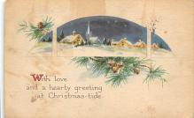 xms001253 - Christmas Post Card Old Vintage Antique Xmas Postcard