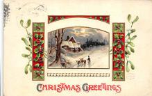 xms001255 - Christmas Post Card Old Vintage Antique Xmas Postcard