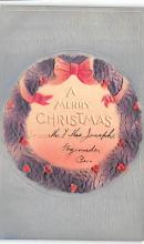xms001257 - Christmas Post Card Old Vintage Antique Xmas Postcard