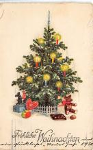 xms001273 - Christmas Post Card Old Vintage Antique Xmas Postcard