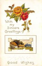 xms001279 - Christmas Post Card Old Vintage Antique Xmas Postcard