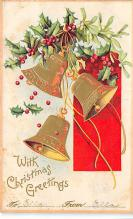 xms001283 - Christmas Post Card Old Vintage Antique Xmas Postcard