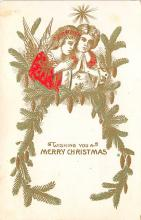 xms001285 - Christmas Post Card Old Vintage Antique Xmas Postcard