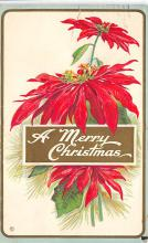xms001287 - Christmas Post Card Old Vintage Antique Xmas Postcard