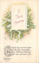 xms001293 - Christmas Post Card Old Vintage Antique Xmas Postcard
