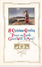 xms001295 - Christmas Post Card Old Vintage Antique Xmas Postcard