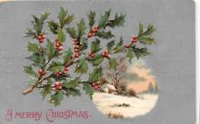 xms001301 - Christmas Post Card Old Vintage Antique Xmas Postcard