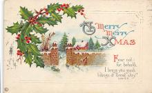 xms001307 - Christmas Post Card Old Vintage Antique Xmas Postcard