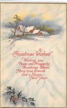 xms001309 - Christmas Post Card Old Vintage Antique Xmas Postcard