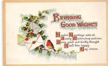 xms001311 - Christmas Post Card Old Vintage Antique Xmas Postcard