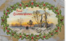xms001319 - Christmas Post Card Old Vintage Antique Xmas Postcard