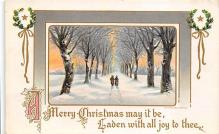 xms001321 - Christmas Post Card Old Vintage Antique Xmas Postcard