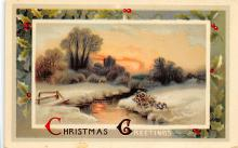 xms001323 - Christmas Post Card Old Vintage Antique Xmas Postcard