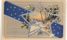 xms001325 - Christmas Post Card Old Vintage Antique Xmas Postcard