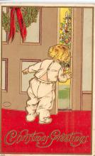 xms001329 - Christmas Post Card Old Vintage Antique Xmas Postcard