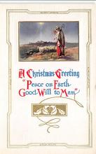 xms001333 - Christmas Post Card Old Vintage Antique Xmas Postcard