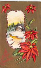 xms001337 - Christmas Post Card Old Vintage Antique Xmas Postcard